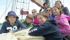 Jugendliche Trainees bei den Tall Ship Races.